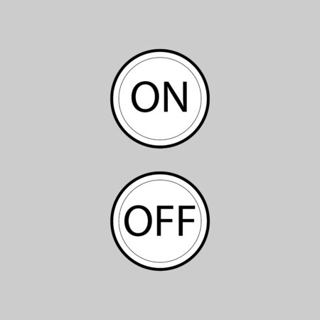 On Off vector icon design