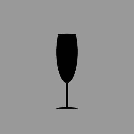 Drink glass icon design vector isolated Ilustração