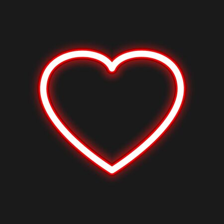 Heart icon vector design isolated