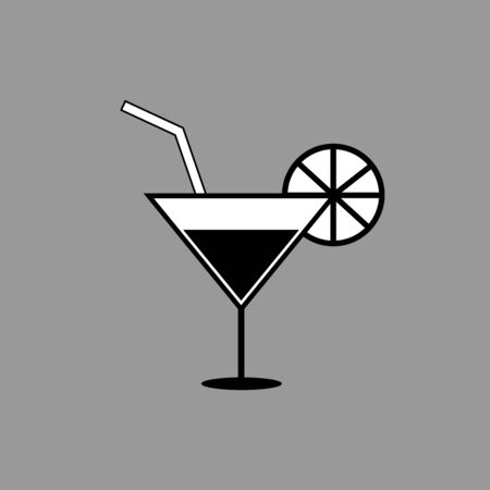 Drink glass icon art vector isolated