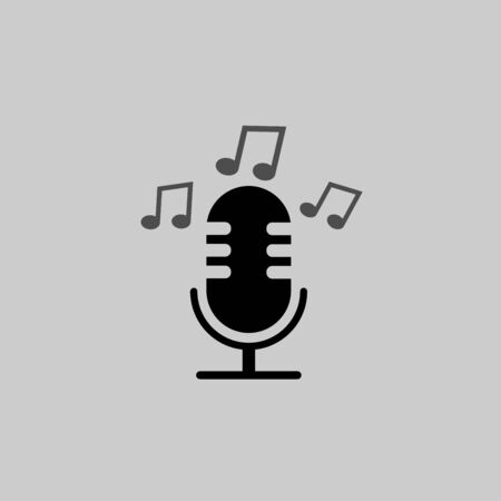 Microphone icon sign vector isolated