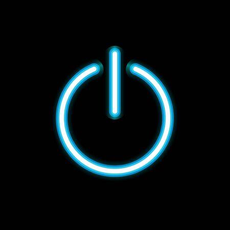 Power icon vector design isolated Ilustração