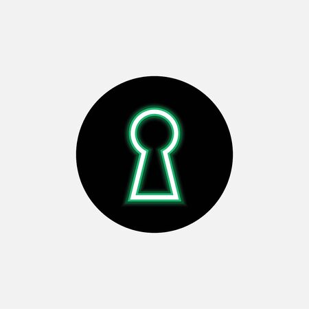 Keyhole icon vector art design isolated