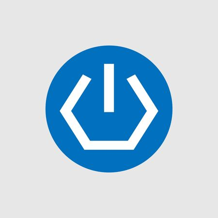 Power icon sign vector isolated Ilustração