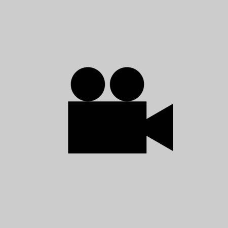 Movie Camera icon vector design isolated Ilustração