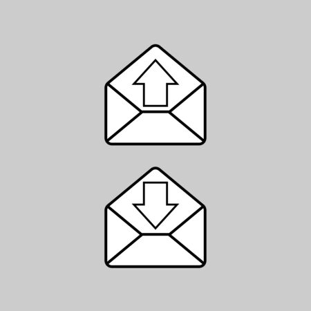 Mail icon vector art design isolated
