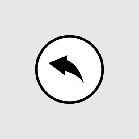 Back icon vector isolated