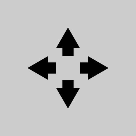 Move icon sign vector isolated Ilustração