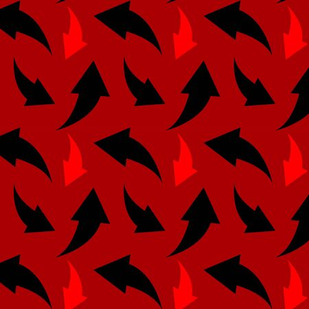 Red and black arrow pattern art