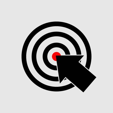 Target icon design vector art