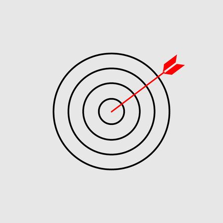 Target icon sign vector isolated