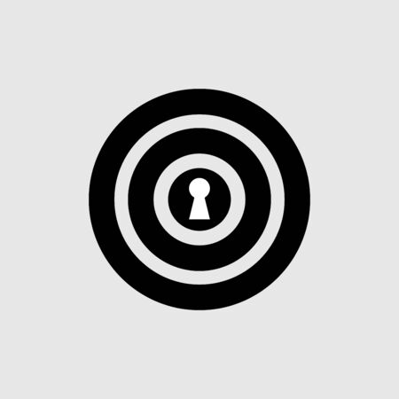 Target icon vector design isolated