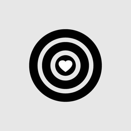 Target icon art vector design isolated Ilustração