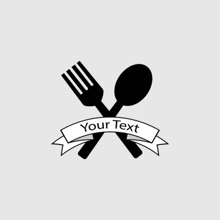 Fork and spoon sign vector isolated