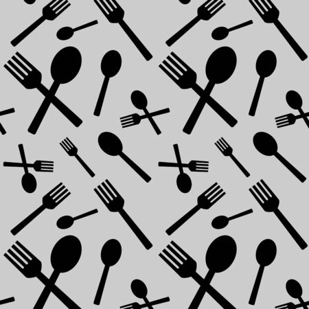 Fork and spoon Pattern design
