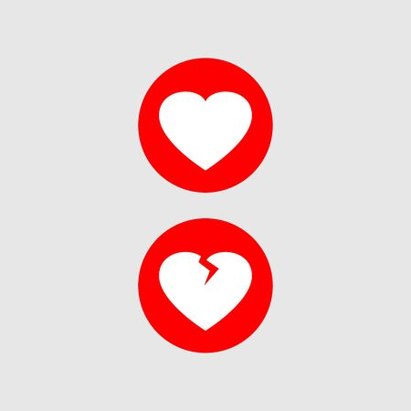 Heart vector art design isolated