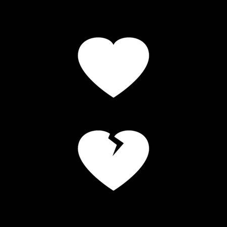 Heart vector sign isolated Ilustração