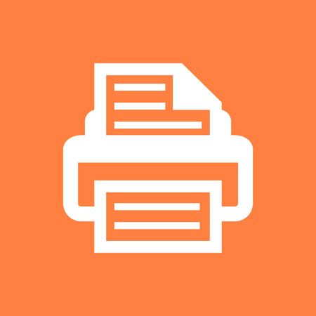 inkjet: print icon stock vector illustration flat design