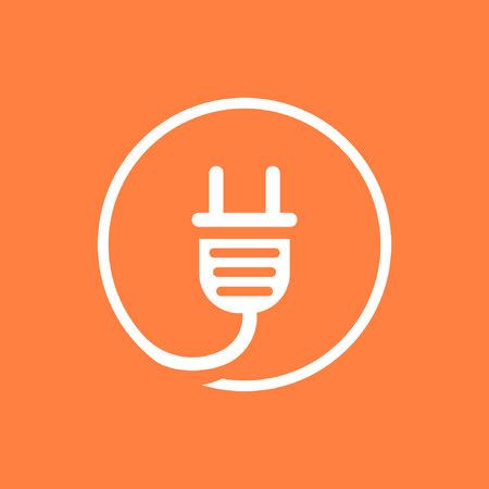 Plug vector icon stock vector illustration flat design