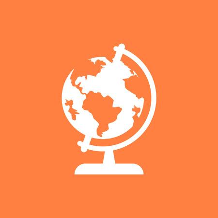 flat earth: Earth globe icon stock vector illustration flat design