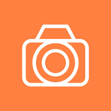 camera icon stock vector illustration flat design