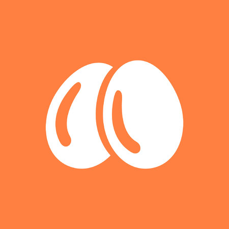 raw chicken: Egg icon  stock vector illustration flat design Illustration
