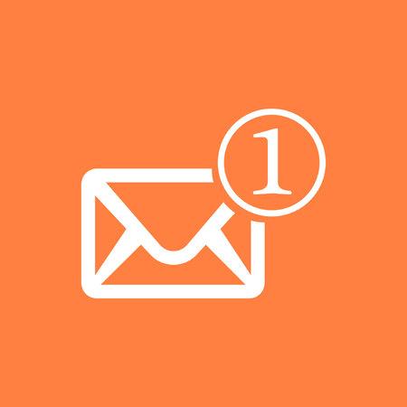 Envelope Mail icon, vector illustration. Flat design style Illustration
