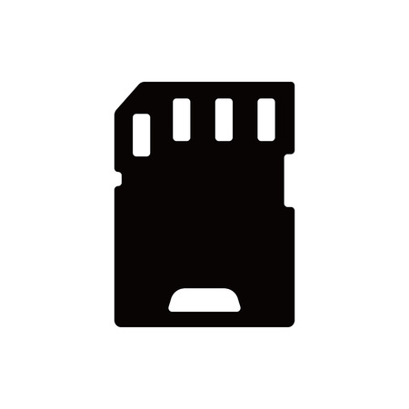 micro: Micro sd card icon stock vector illustration flat designv