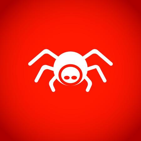 spider pictogram stock vector illustratie plat ontwerp Stock Illustratie