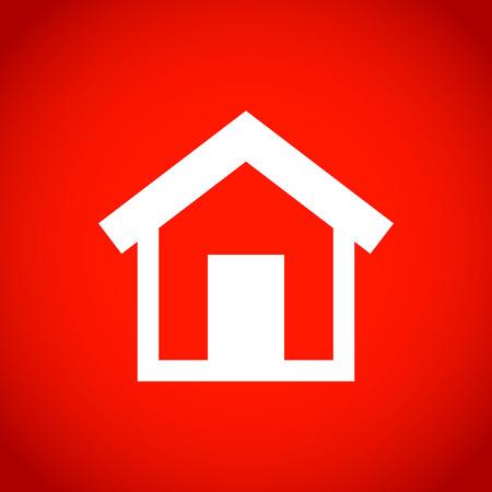 home design: home icon stock vector illustration flat design