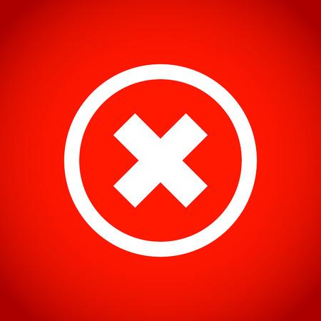 delete: delete icon stock vector illustration flat design