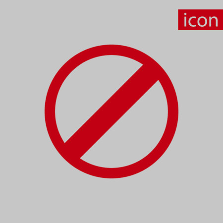 rescricted icon stock vector illustration flat design