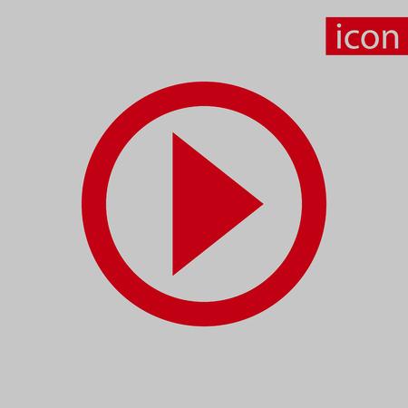play icon stock vector illustration flat design Illustration