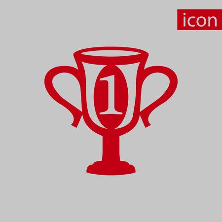 champions cup icon stock vector illustration flat design Illustration