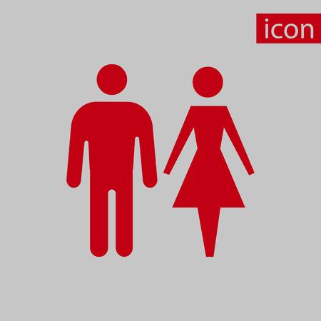 Mann und Frau Symbol stock Vektor-Illustration flaches Design Illustration