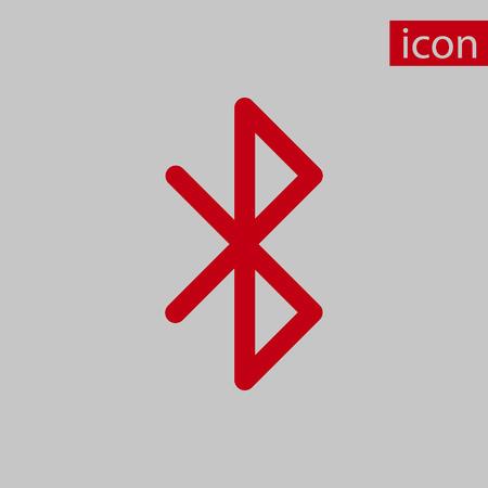 bluetooth: bluetooth icon  stock vector illustration flat design Illustration