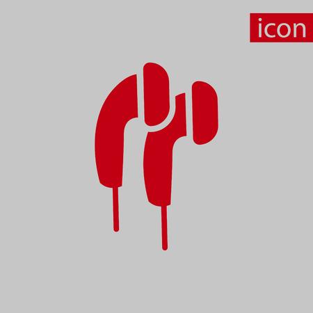 portable audio: Headphones icon stock vector illustration flat design