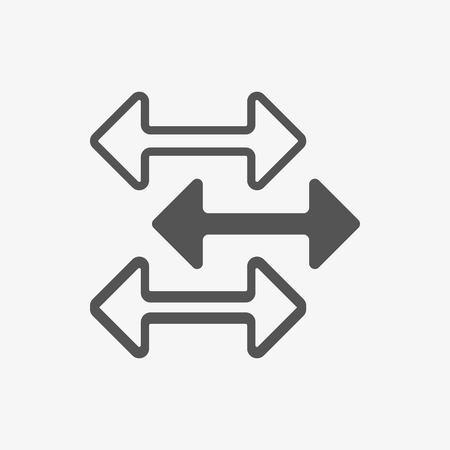 arrow icon stock vector illustration flat design