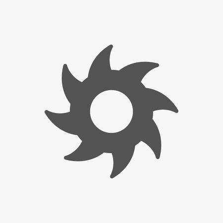 circular saw: circular saw icon stock illustration flat design