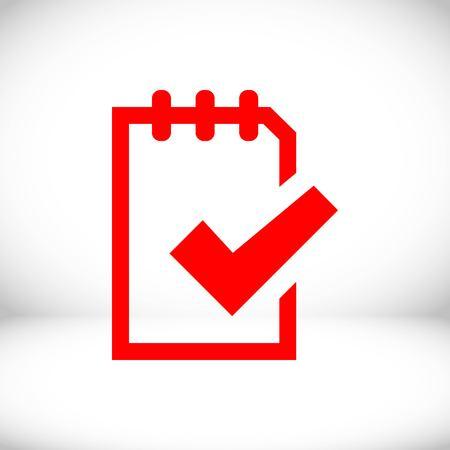 todo list: checklist icon stock vector illustration flat design