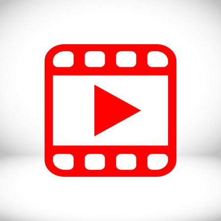 media player: video icon stock vector illustration flat design Illustration