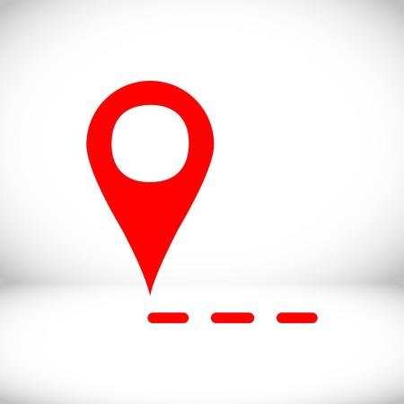 label for map icon stock vector illustration flat design Illustration