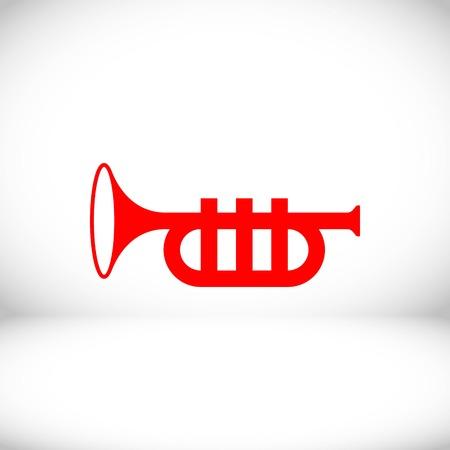 trumpet icon stock vector illustration flat design