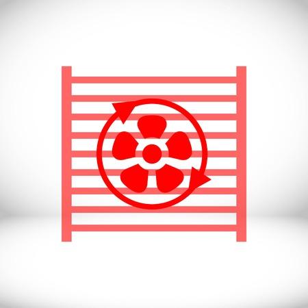 coolant: radiator cooling system icon stock vector illustration flat design Illustration