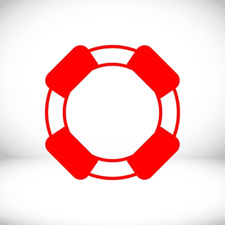 safety belts: lifeline icon stock vector illustration flat design