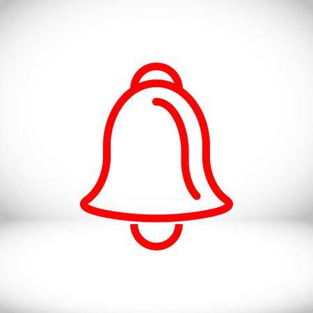 bell icon stock vector illustration flat design Illustration