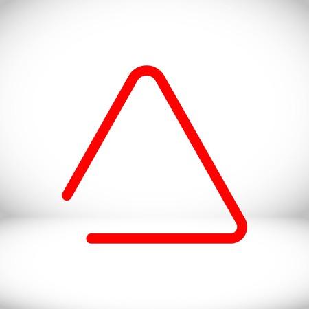 struck: musical metal triangle icon stock vector illustration flat design Illustration