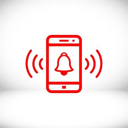 phone rings icon stock vector illustration flat design Illustration