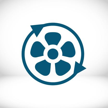 fan air propeller icon stock vector illustration flat design Illustration