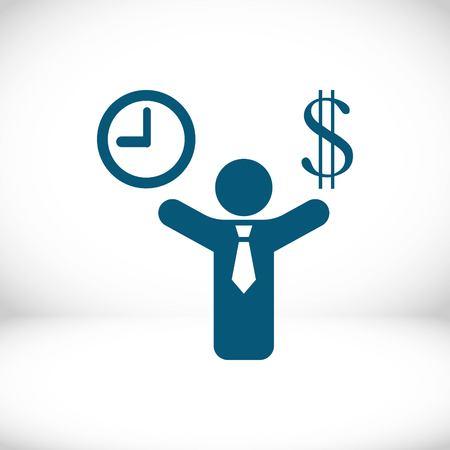 money time icon stock vector illustration flat design Illustration